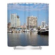 St Petersburg Yacht Basin Shower Curtain