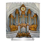 St Roch Organ In Paris Shower Curtain
