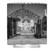 St Roch's Cemetery Bw Shower Curtain