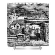 St Sannans Church Bedwellty 4 Mono Shower Curtain