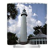 St. Simon's Island Georgia Lighthouse Shower Curtain