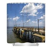 St. Simon's Island Georgia Pier Shower Curtain