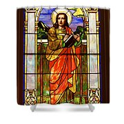 St. Stan's Stained Glass Shower Curtain