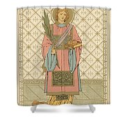 St Stephen Shower Curtain by English School