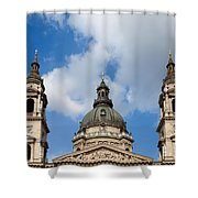 St. Stephen's Basilica Dome And Bell Towers Shower Curtain