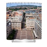 St Stephen's Square In Budapest Shower Curtain
