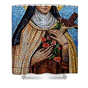 St. Theresa Mosaic Shower Curtain