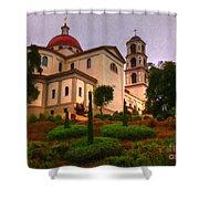St. Thomas Aquinas Church Large Canvas Art, Canvas Print, Large Art, Large Wall Decor, Home Decor Shower Curtain