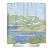 St. Thomas From Water Island Shower Curtain