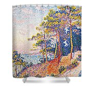St Tropez The Custom's Path Shower Curtain by Paul Signac