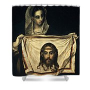 St Veronica With The Holy Shroud Shower Curtain