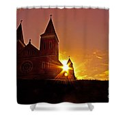 St Vincent Basilica At Sunset Shower Curtain
