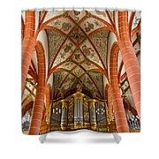 St Wendel Basilica Organ Shower Curtain