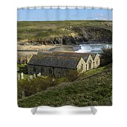 St Winwaloe Gunwalloe Shower Curtain