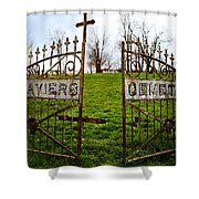 St. Xaviers Cemetery Shower Curtain