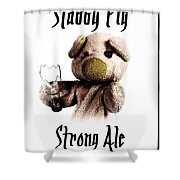 Stabby Pig Strong Ale Shower Curtain