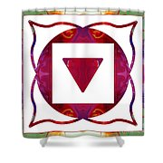 Stabilized Emotions And Thoughtful Feelings Abstract Chakra Art  Shower Curtain