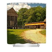 Stable Entrance Shower Curtain