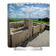 Stables At Tel Meggido Shower Curtain