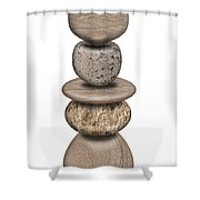 Stack Of Balanced Rocks With Heart Shower Curtain