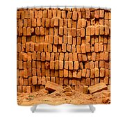 Stack Of Bricks Shower Curtain