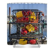 Stack Of Crab Pots Shower Curtain