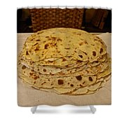 Stack Of Lefse Rounds Shower Curtain