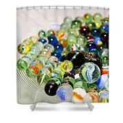 Stack Of Marbles Shower Curtain