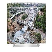 Stacked Bridges Shower Curtain
