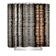 Stacked Coins Shower Curtain