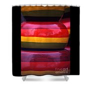 Stacked Colors Shower Curtain