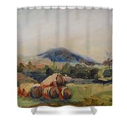 Stacked Hay Bales Shower Curtain