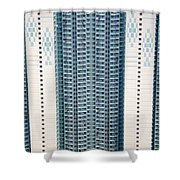 Stacked Housing Shower Curtain