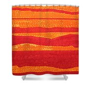 Stacked Landscapes Original Painting Shower Curtain