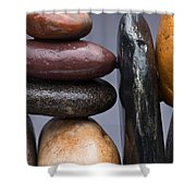 Stacked Stones 2 Shower Curtain by Steve Gadomski