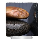 Stacked Stones 3 Shower Curtain by Steve Gadomski
