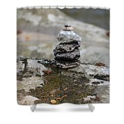 Stacked Stones Shower Curtain
