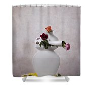Stacked Vases Shower Curtain