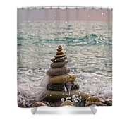 Stacking Stones Shower Curtain