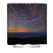 Stacking The Stars At Larch Mountain Shower Curtain