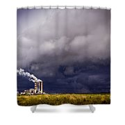 Stacks In The Clouds Shower Curtain