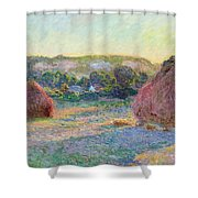 Stacks Of Wheat. End Of Summer Shower Curtain