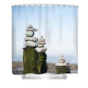 Stacks Squared Shower Curtain