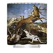Stag Hunt Shower Curtain