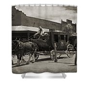 Stage Coming Through Tombstone Shower Curtain
