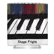 Stage Fright Named Shower Curtain