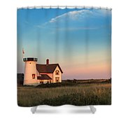 Stage Harbor Lighthouse Shower Curtain