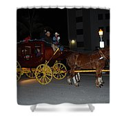 Stagecoach And Horses Shower Curtain