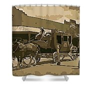 Stagecoach In Old West Arizona Shower Curtain