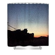 Stagecoach Riding Off Into The Sunset Shower Curtain